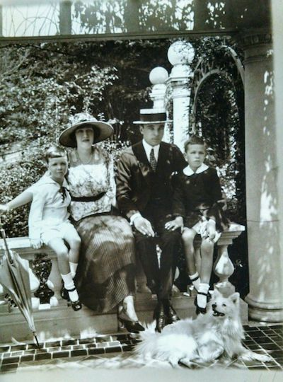 Jesse in her longer years with her husband and two sons