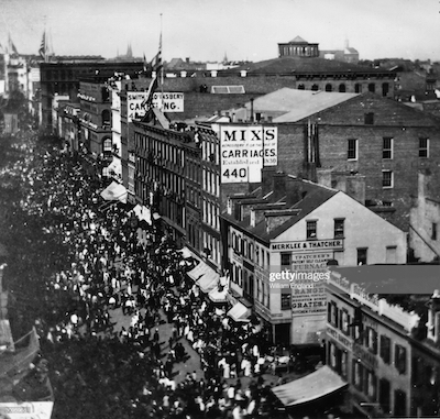 View of Broadway, 1858 photo: Getty Images