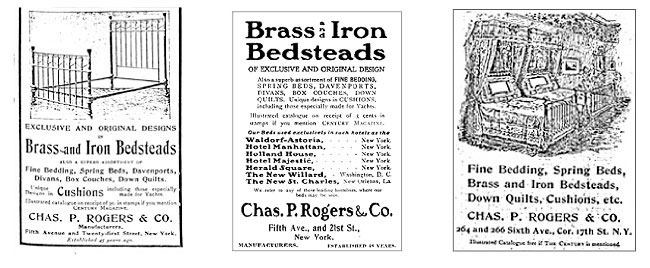 Early magazine advertisements of the Charles P. Rogers Company