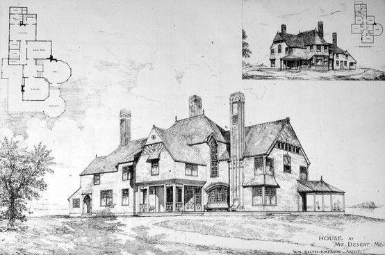 Emerson's Design for Redwood Cottage in Bar Harbor, ME