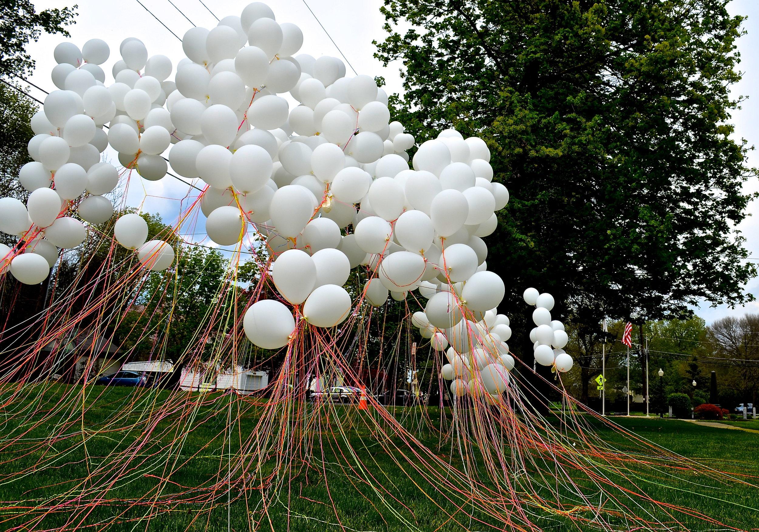 balloon art installation