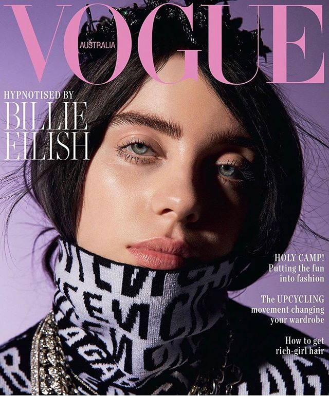 Bad guy @billieeilish for @vogueaustralia 👊🏼 Photographed by @jesse_lizzotte and styled by @jilliandavison 💜
