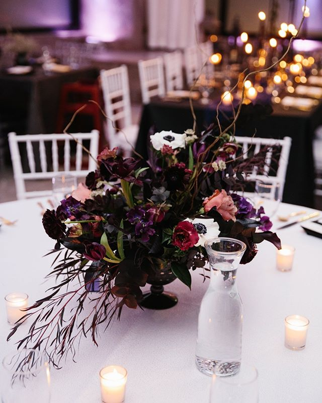 What a unique and eye-catching centerpiece. It's bold, daring, and very beautiful! Photograph courtesy of https://www.movemountains.co/. #providence #rhodeisland #ballroom #weddings #specialevents #providencewedding #rhodeislandwedding