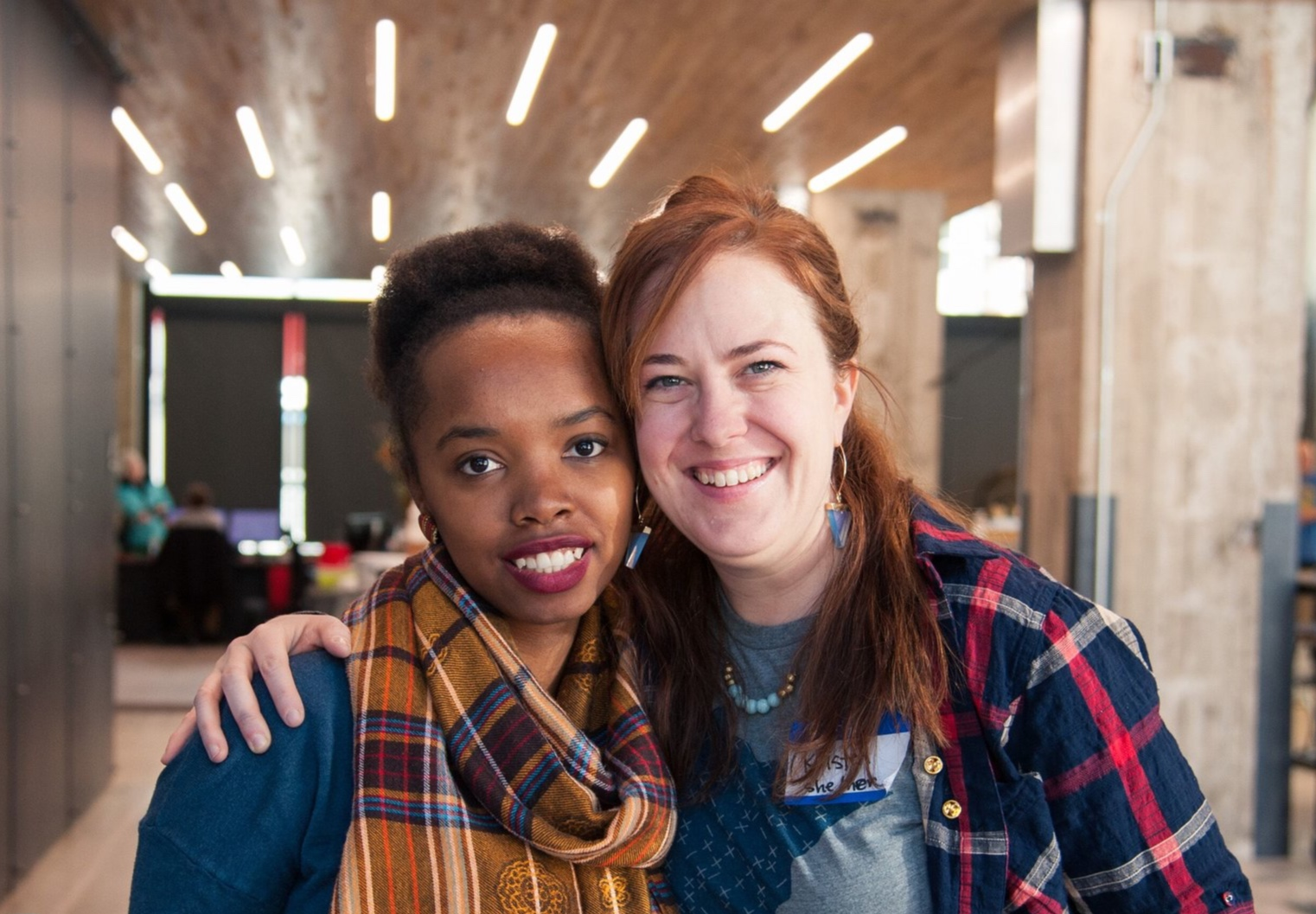 Caroline Karanja, CEO + Founder of 26 Letters, and Kristen Womack, Co-Founder of Hack the Gap