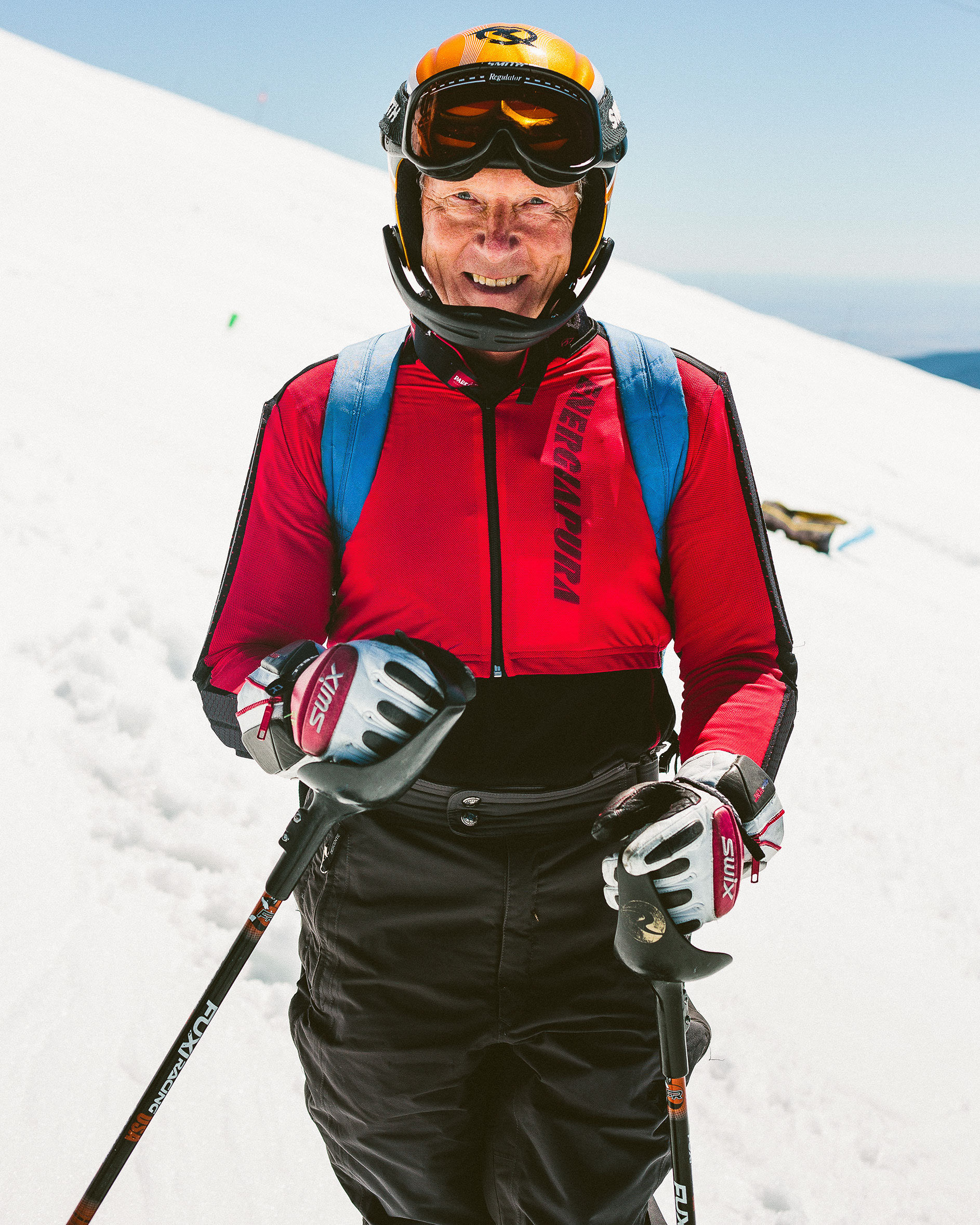 Masters Ski Racer. Mt. Hood, Oregon.