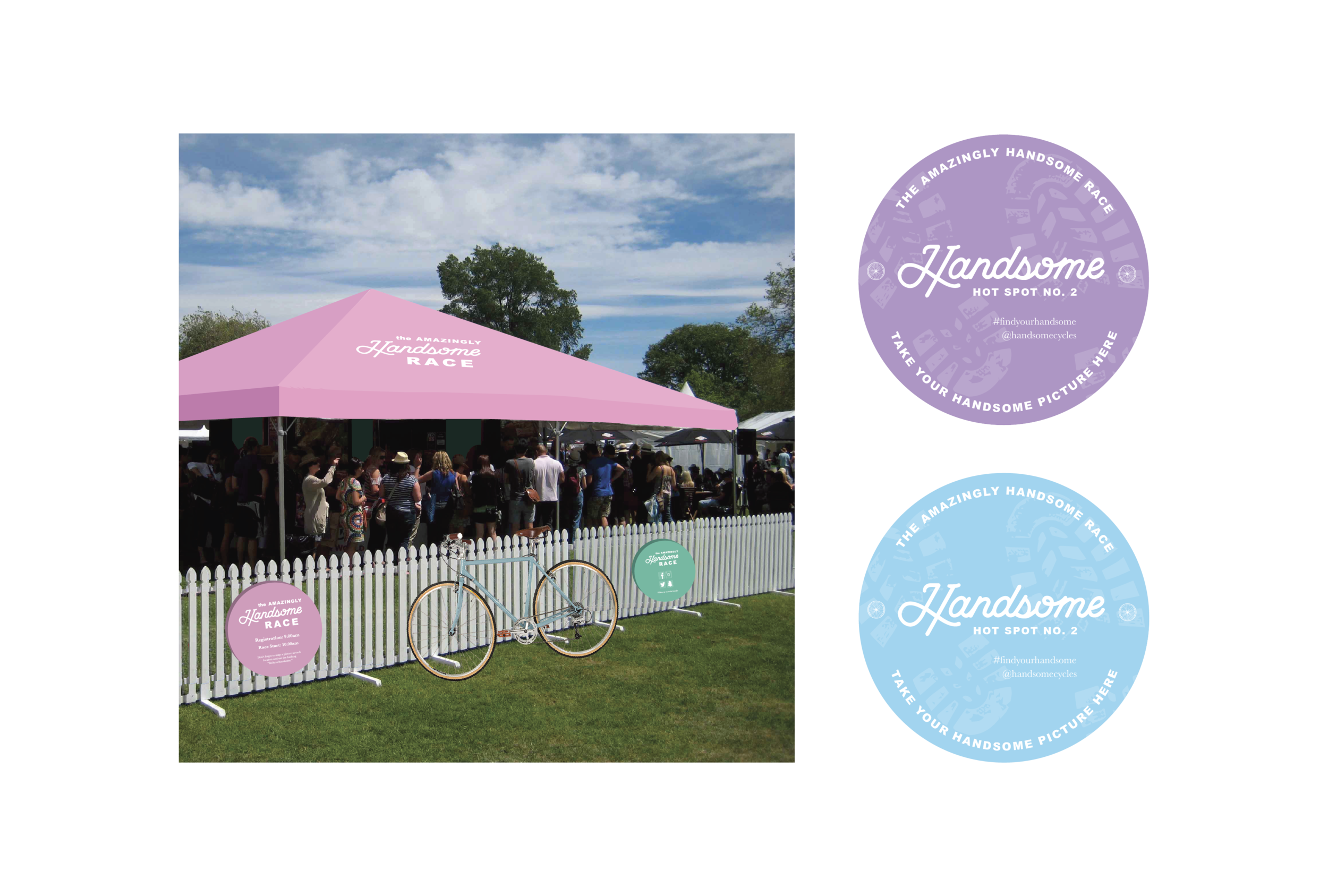 "As an overall brand experience, Handsome sponsors a ""Amazingly Handsome Race"" each year, which encourages friends or couples to race against others to find ""Hotspots"" around the city and connect with other like-minded casual bikers."