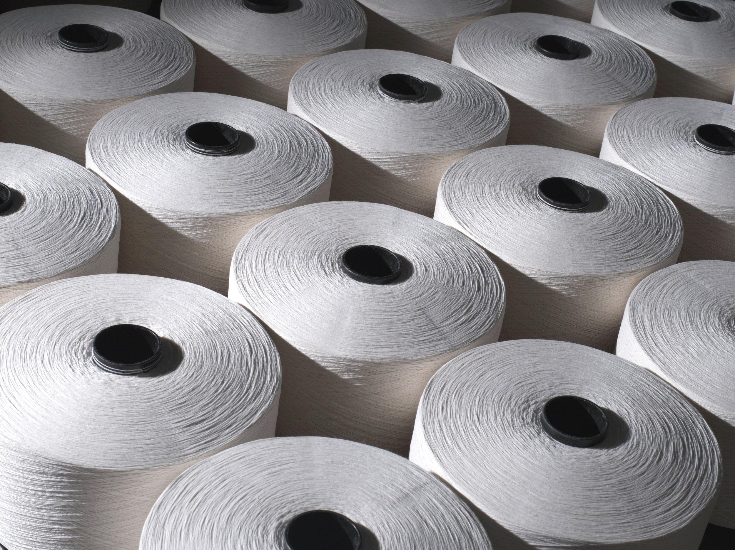 Greige Yarn ready for weave
