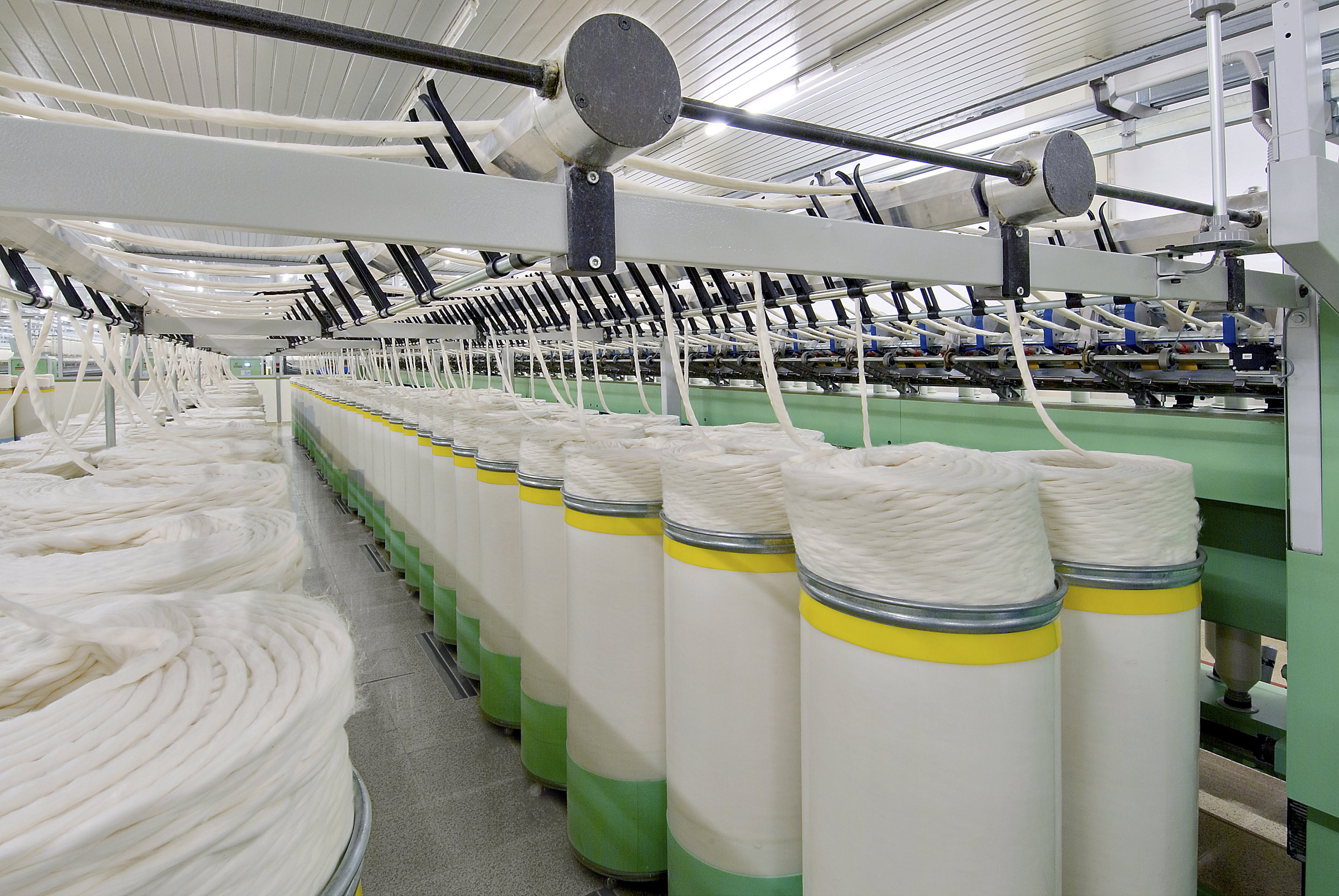 Preparing cotton prior to spinning