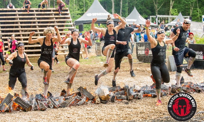 Spartan Race - There are a few different types of Spartan races, the Sprint (3-5 miles, ~20 obstacles), the Super (8+ miles, ~25+ obstacles), and the Beast (12+ miles, ~30+ obstacles).