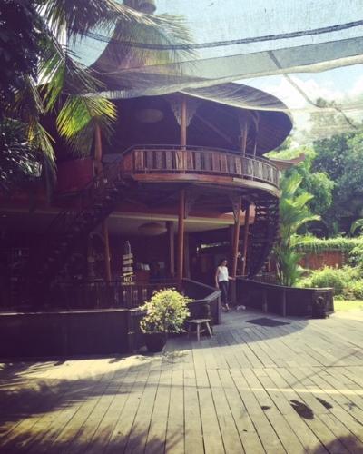 Yogabarn är ett stort och vackert ställe med flera shalas, juicebar, café, shop mm .