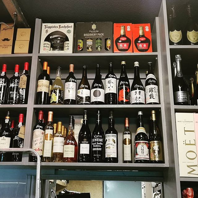 Some of our @retrovino_sake starting to make its presence felt @drinkstore.ie on this fine new shelf built by Ken! #sake #sakerevolution