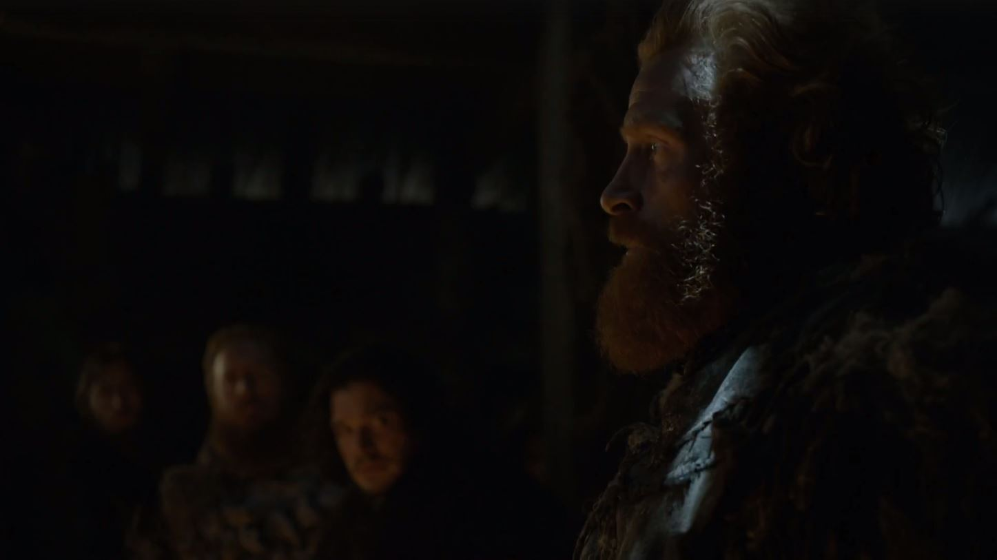 """""""He's prettier than both my daughters. But he knows how to fight. He's young, but he knows how to lead. He didn't have to come to Hardhome; he came because he needs us. And we need him."""""""