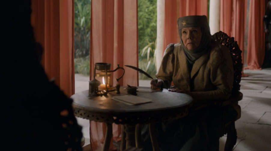 """""""Loras rots in a cell because of you. The High Sparrow rules this city because of you. Our two ancient houses face collapse because of you, and your stupidity."""""""