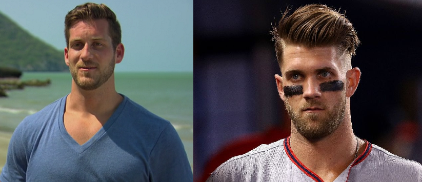 Just needs a little eye black! Don't worry, nothing interesting was said on the show while I was struck dumb with this revelation.