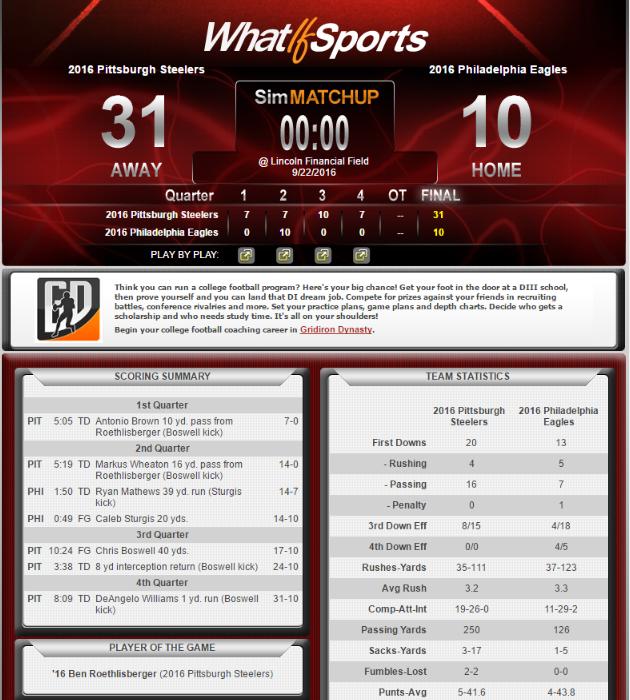 NFL Picks Week 3 Pittsburgh Steelers Philadelphia Eagles