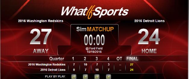 NFL Picks Week 7 Washington Redskins Detroit Lions