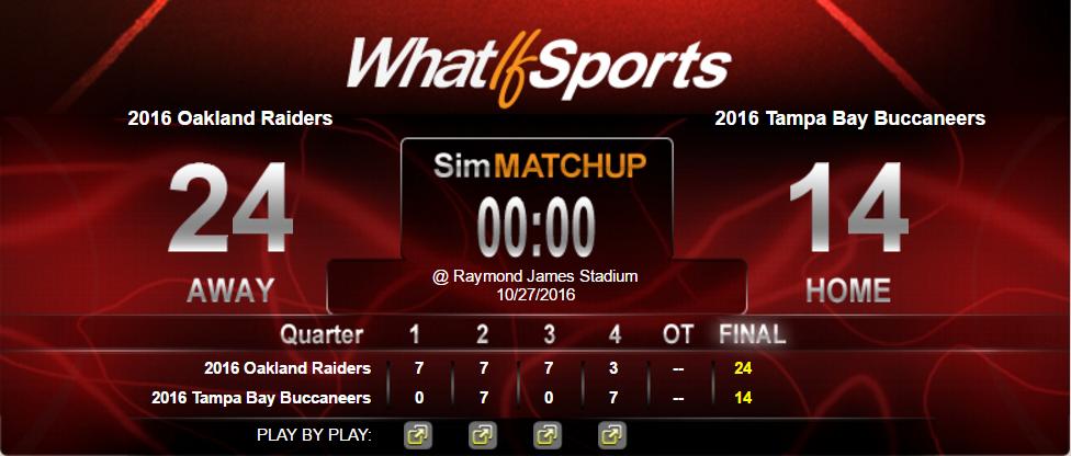 NFL Picks Week 8 Oakland Raiders Tampa Bay Buccaneers