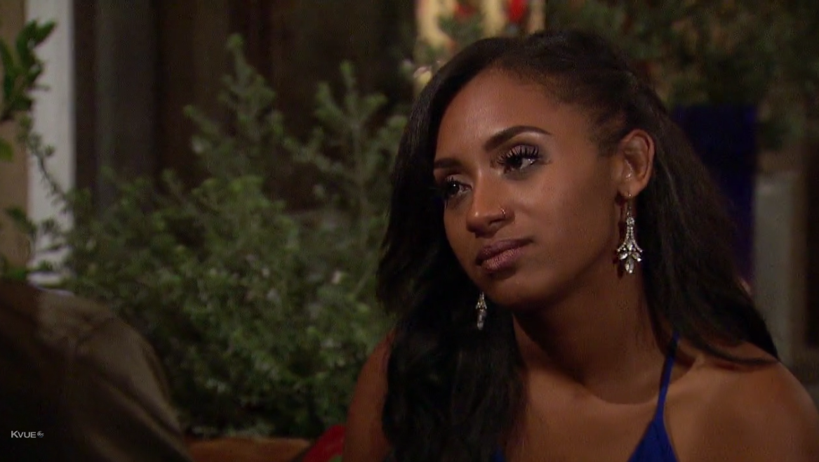 Those earrings make you a winner in my book, Dominique. Don't worry, no one sane wants to stay on this show!