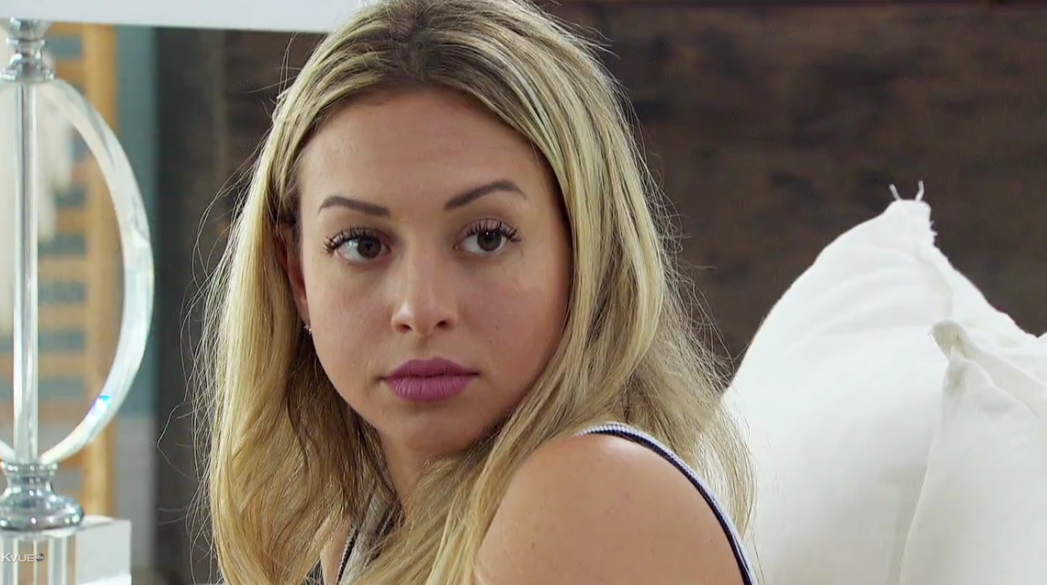 This face is neither impressed nor accepting. If Nick keeps Corinne on the show much longer, we might get our first physical altercation!