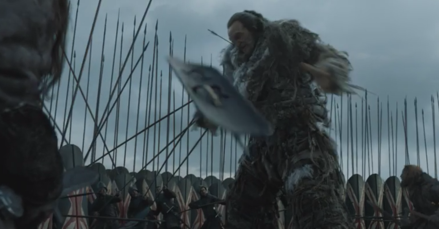 Wun Wun the Giant at the  Battle of the Bastards