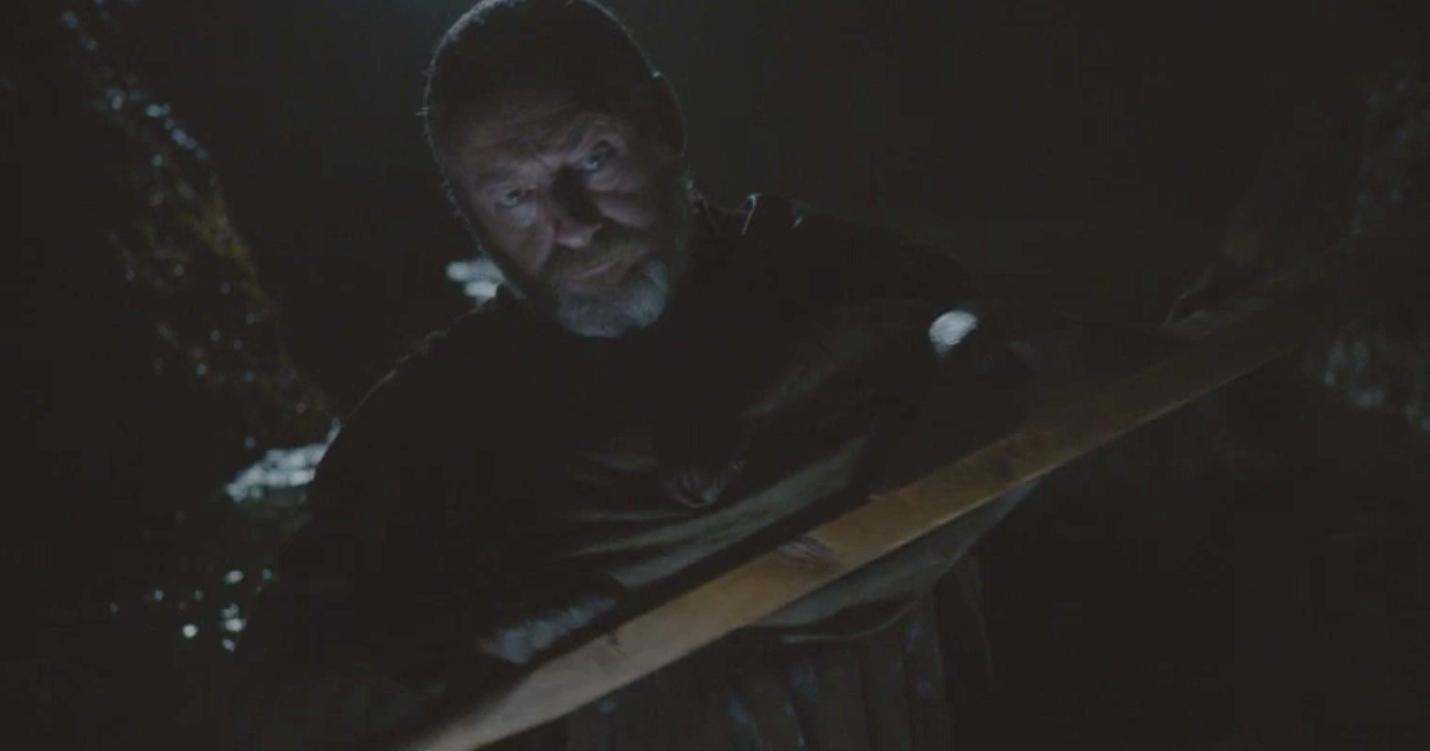 Ser Davos Seaworth rowing near Storm's End in  Garden of Bones  (S2E4)
