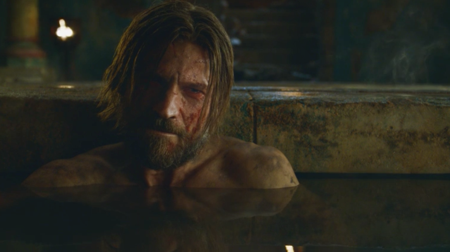 Ser Jaime Lannister detailing the last moment of the Mad King Aerys Targaryen to Brienne of Tarth in  Kissed by Fire  (S3E5)