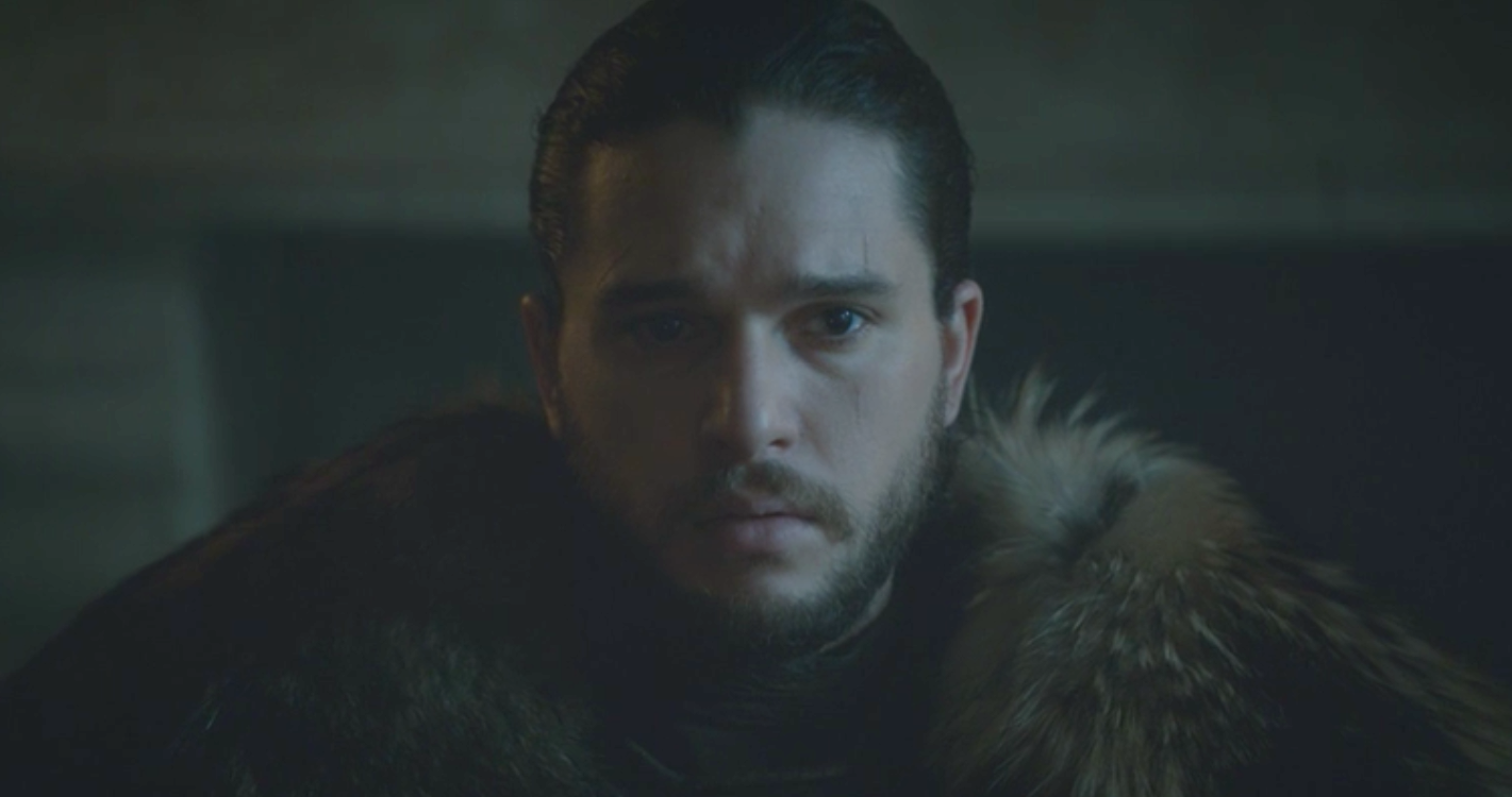 Jon Snow, Lyanna Stark and Rhaegar Targaryen's son, in Winterfell in  The Winds of Winter  (S6E10)