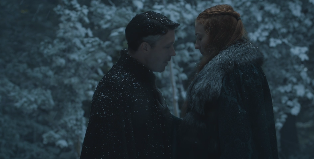 Sansa Stark shutting Lord Petyr Baelish down like the creepshow he is in   The Winds of Winter  (S6E10)