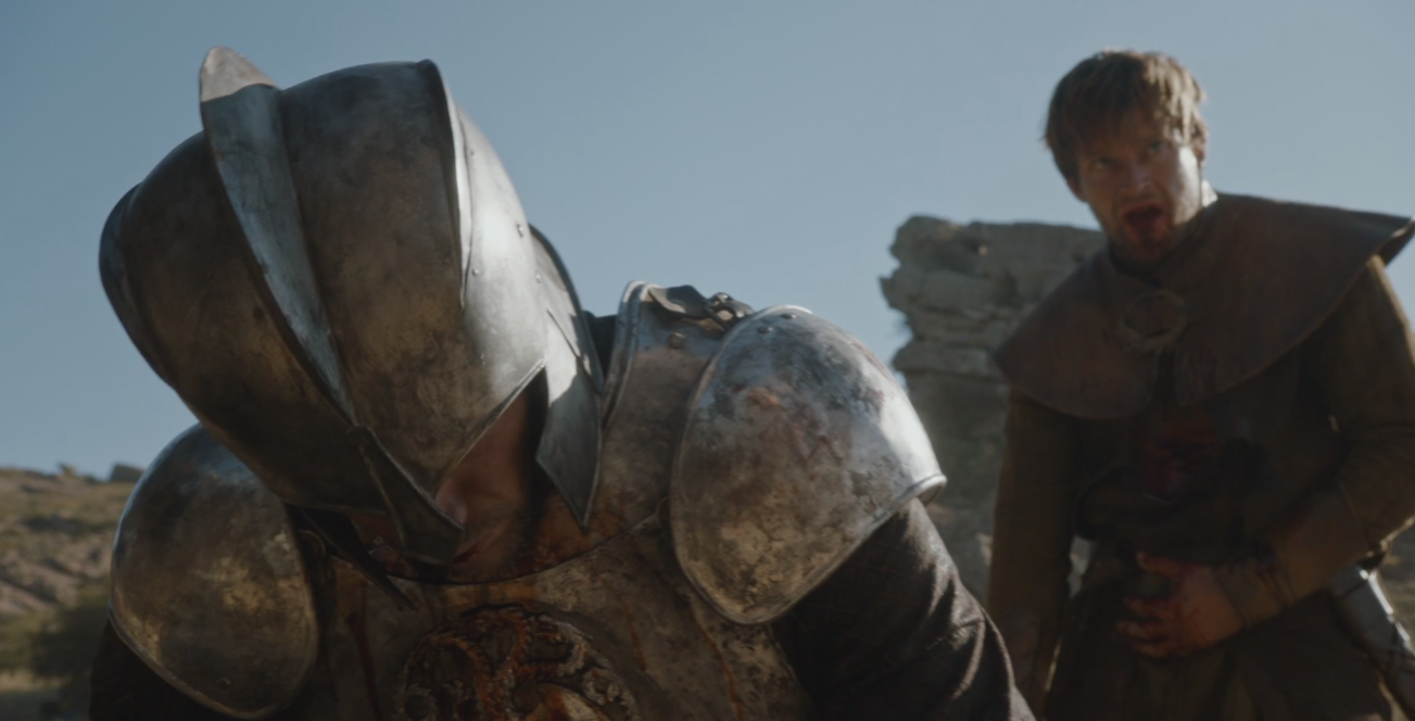 Howland Reed, having saved Ned's life at the Tower of Joy ( Oathbreaker  (S6E3), is one of two characters we know have knowledge of Jon's parentage