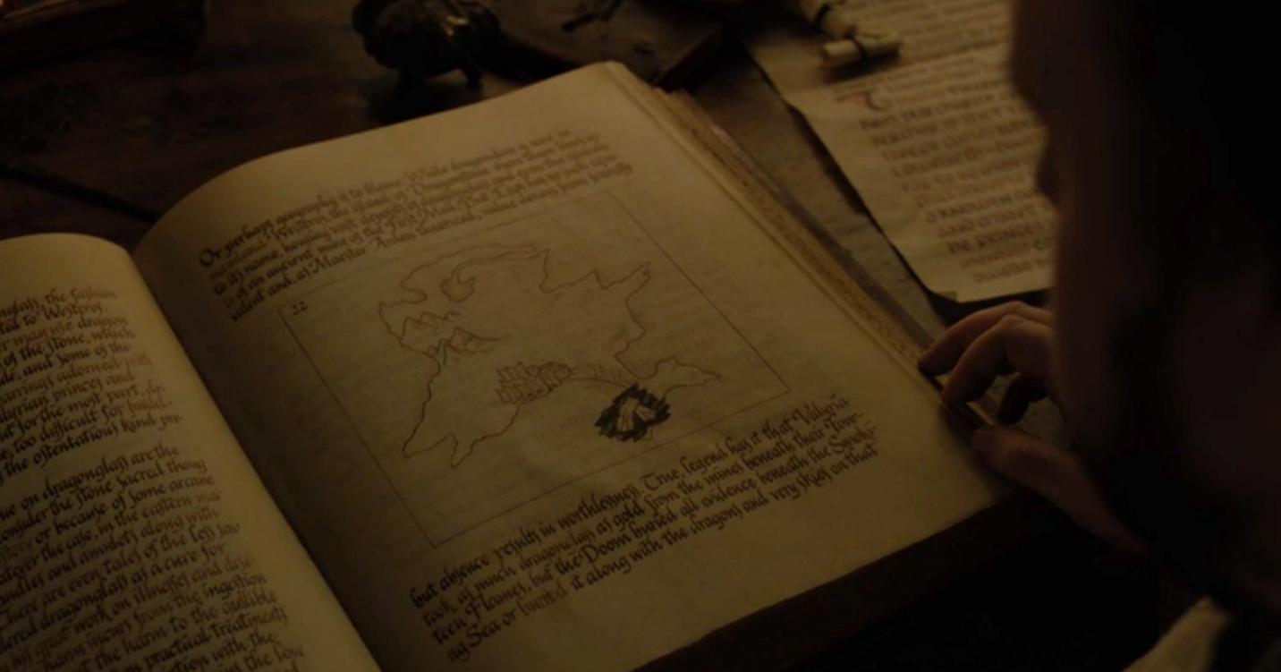 Game of Thrones Recap Season 7 Episode 1 Dragonstone Map of Dragonglass Cache