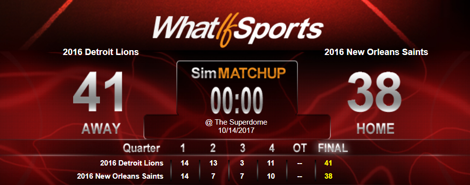 Questionably Qualified Sports Book NFL Picks Week 6 Detroit Lions New Orleans Saints