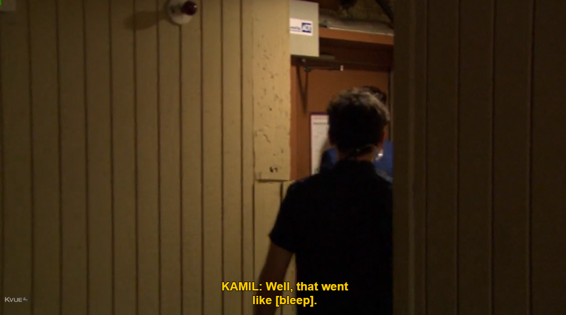 You should have known what you were getting into the moment you saw her crazy eyes, Kamil. Or when you heard her crazy words. There were a lot of opportunities, is my point.