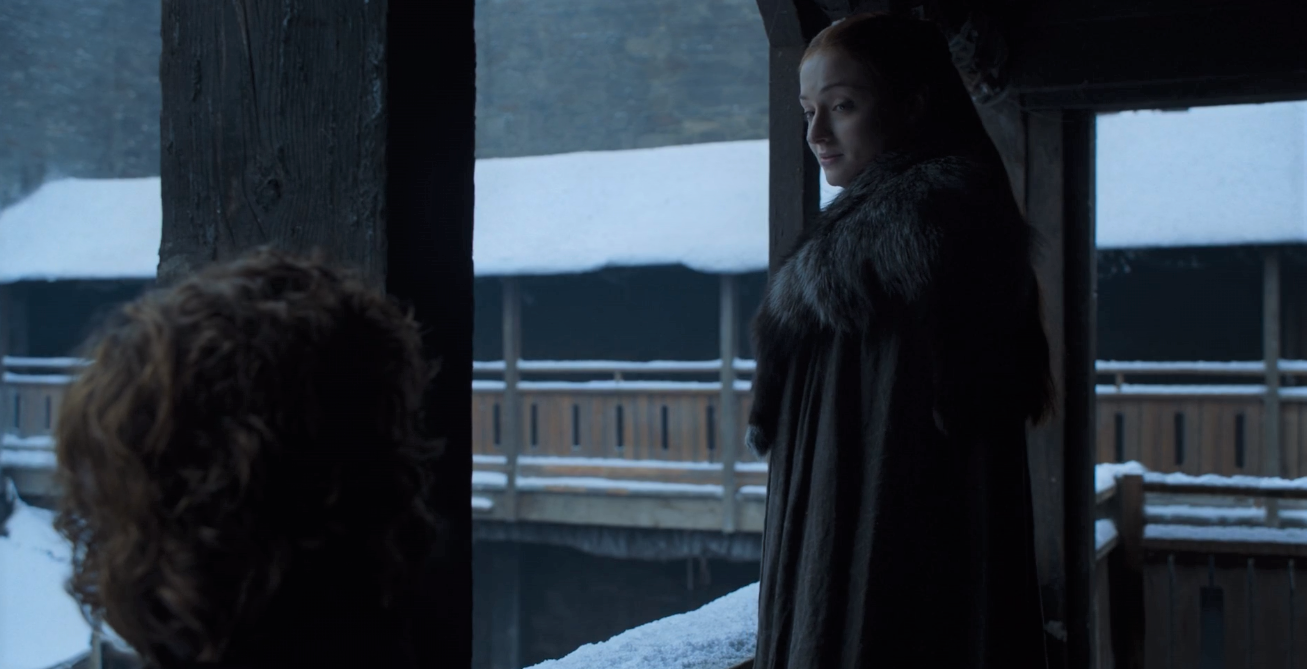 "Sansa: ""Cersei told you her army was coming north. To fight for you."" Tyrion: ""She did.""  Sansa: ""And you believed her?"""
