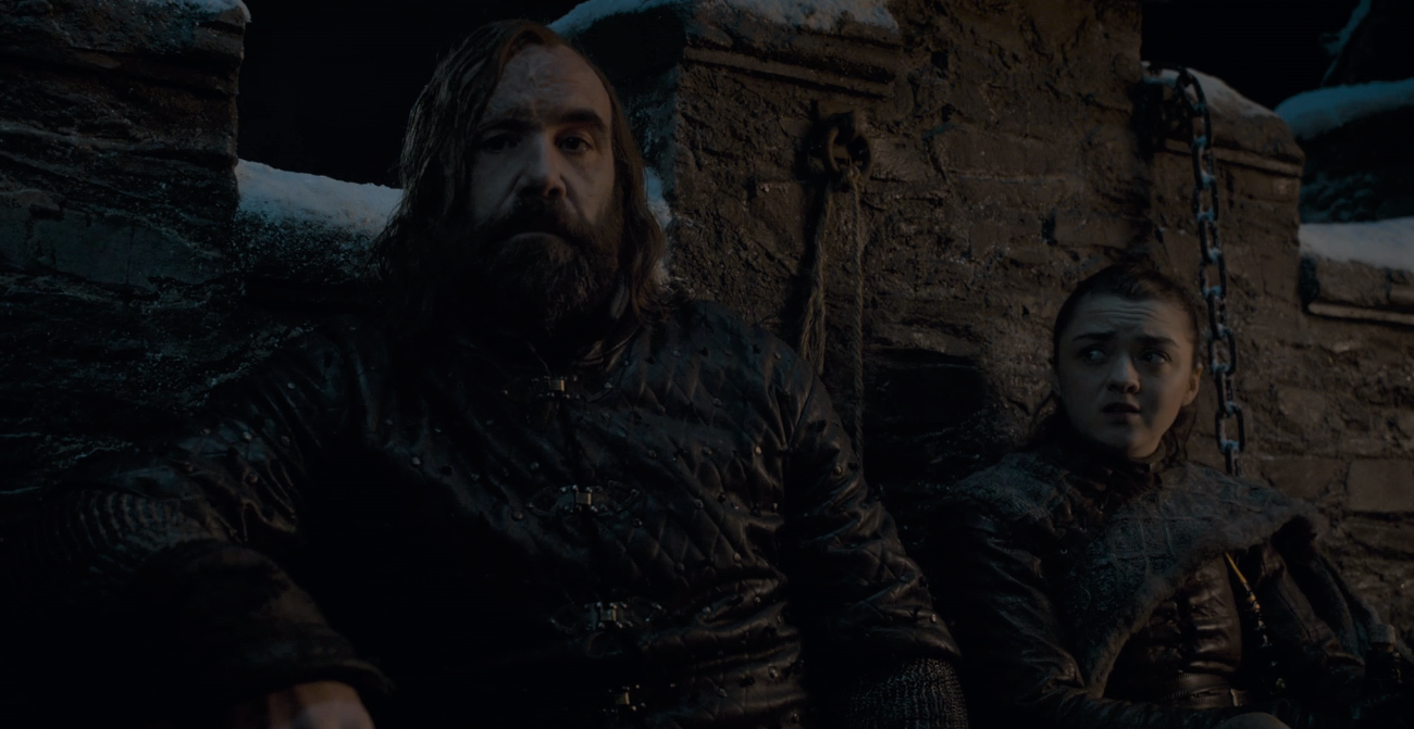 Game of Thrones Season 8 Episode 2 Arya and the Hound.PNG