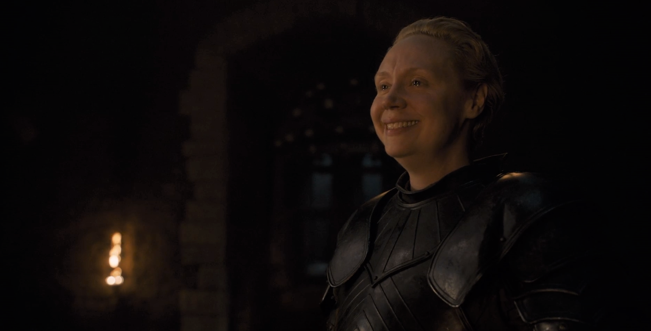 Game of Thrones Season 8 Episode 2 Brienne Smile.PNG