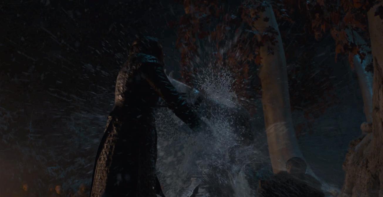 Game of Thrones Season 8 Episode 3 Arya Night King 6.PNG