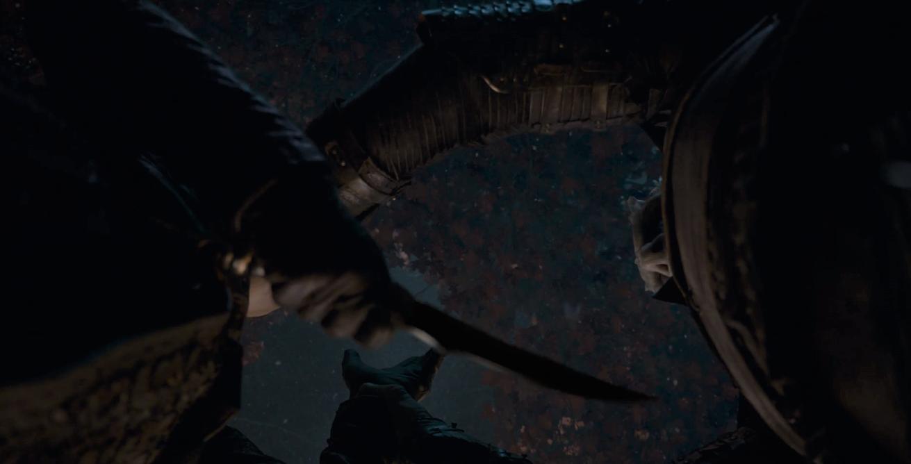 Game of Thrones Season 8 Episode 3 Arya Night King 4.PNG