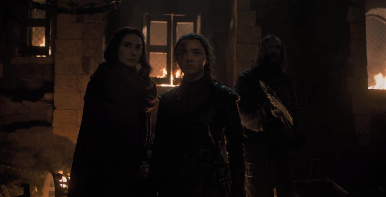 Game of Thrones Season 8 Episode 3 Arya Melisandre.PNG