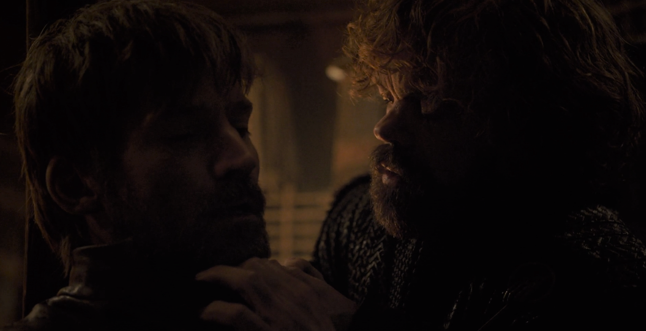 I love every Tyrion and Jaime scene we get, but I still don't understand why letting Jaime go to walk up to the Red Keep and abscond with Cersei to a small boat on the ocean makes any sense.