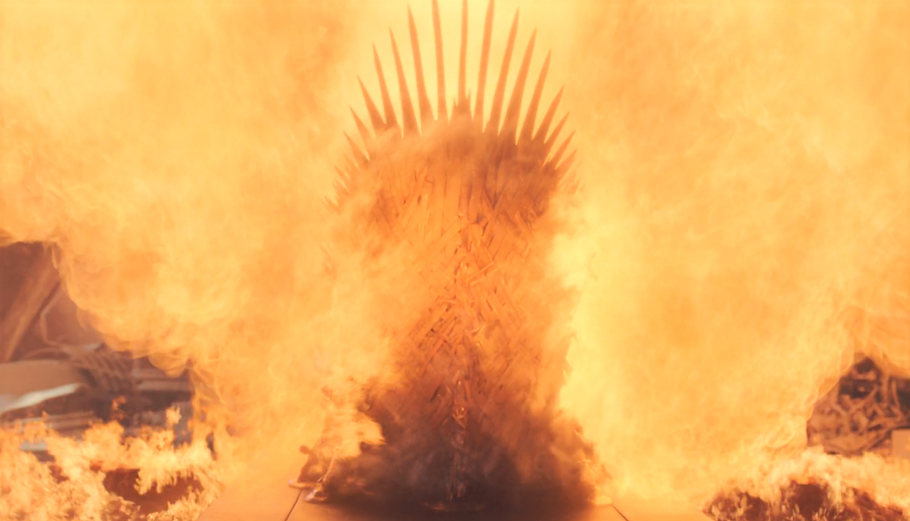 Game of Thrones Season 8 Episode 6 Iron Throne in Flames.PNG