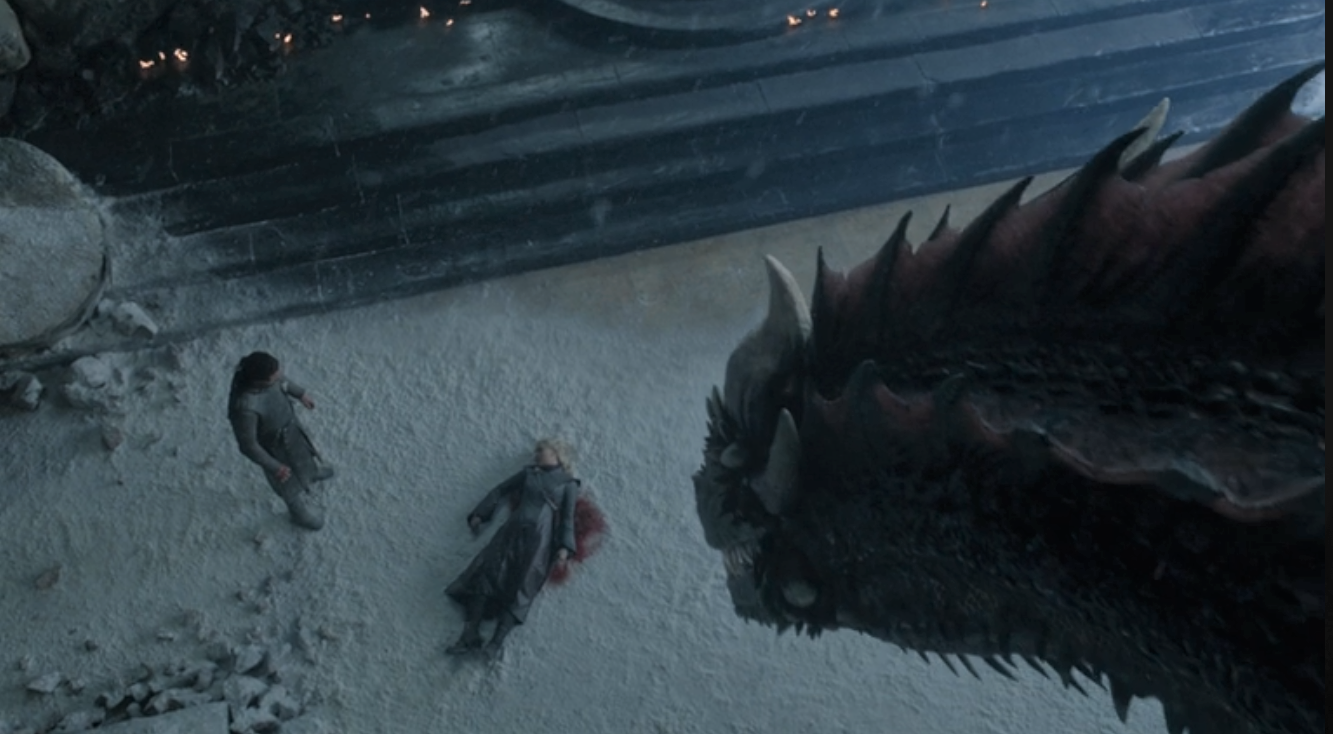 Game of Thrones Season 8 Episode 6 Dany Drogon Jon.PNG