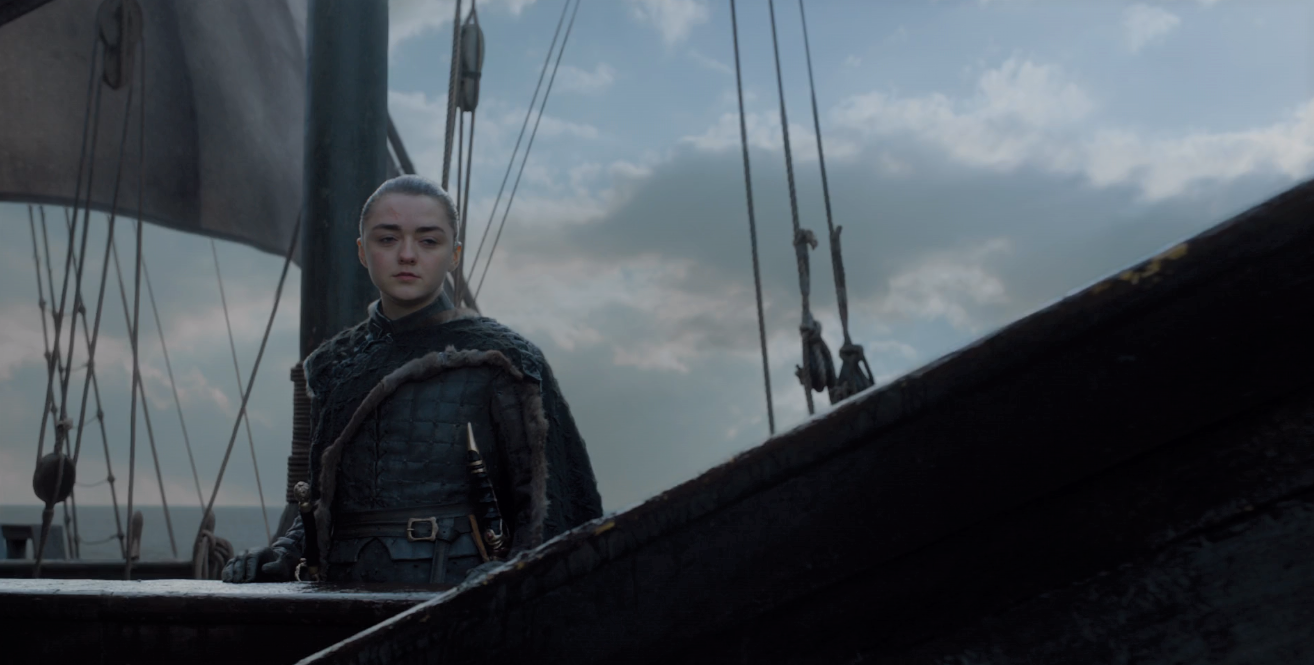 Game of Thrones Season 8 Episode 6 Arya Sailing.PNG