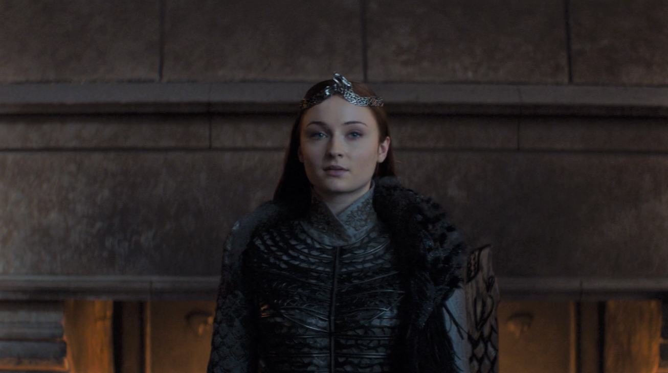 Game of Thrones Season 8 Episode 6 Sansa Queen in the North.PNG