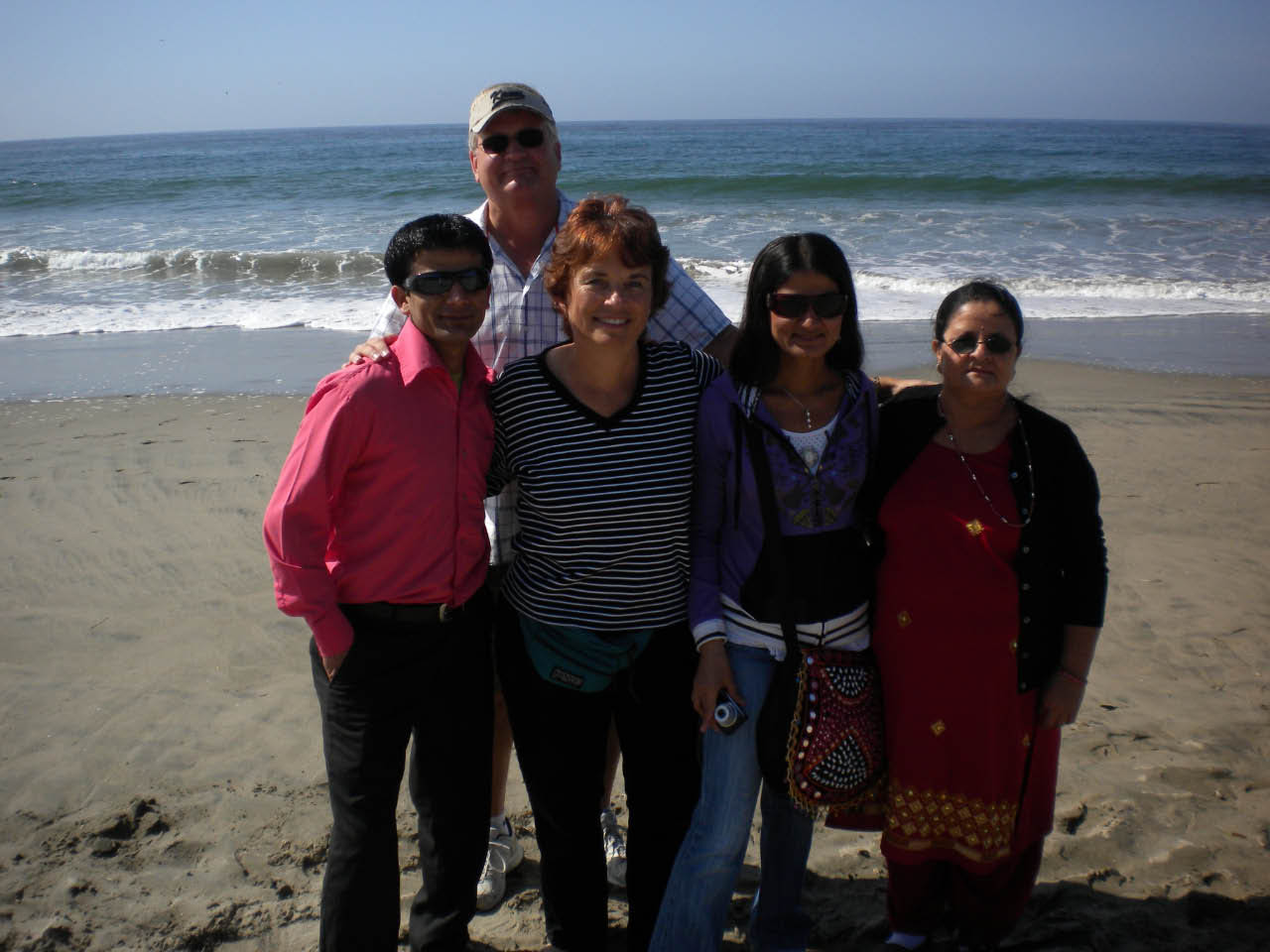 Beach Day with some of our new friends from Nepal