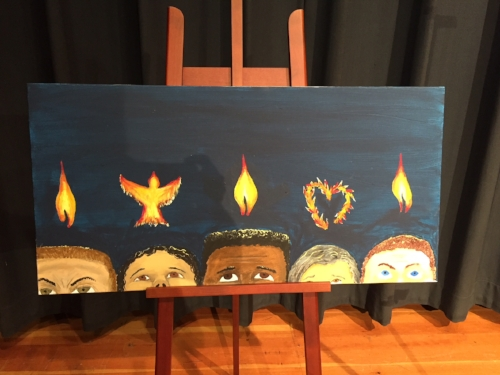 Pentecost, by Melissa Abbey; Created for our reflection at New Life