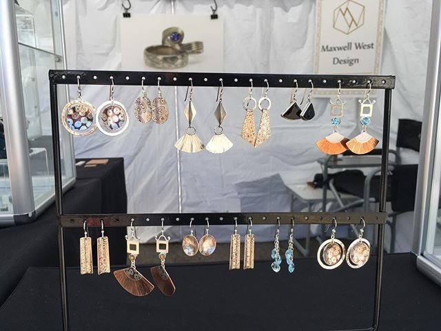 Kickoff to Summer festival on Old South Gaylord happening now! Come by today or tomorrow and enjoy some music, catch some sunshine and get yourself some new jewelry from Maxwell West Design!  #memorialdayweekend #oldsouthgaylord #kickofftosummer #streetfestival #earrings #mokumegane #mokumeganejewelry #mokumeearrings #treatyourself #summerfashion #statementearrings