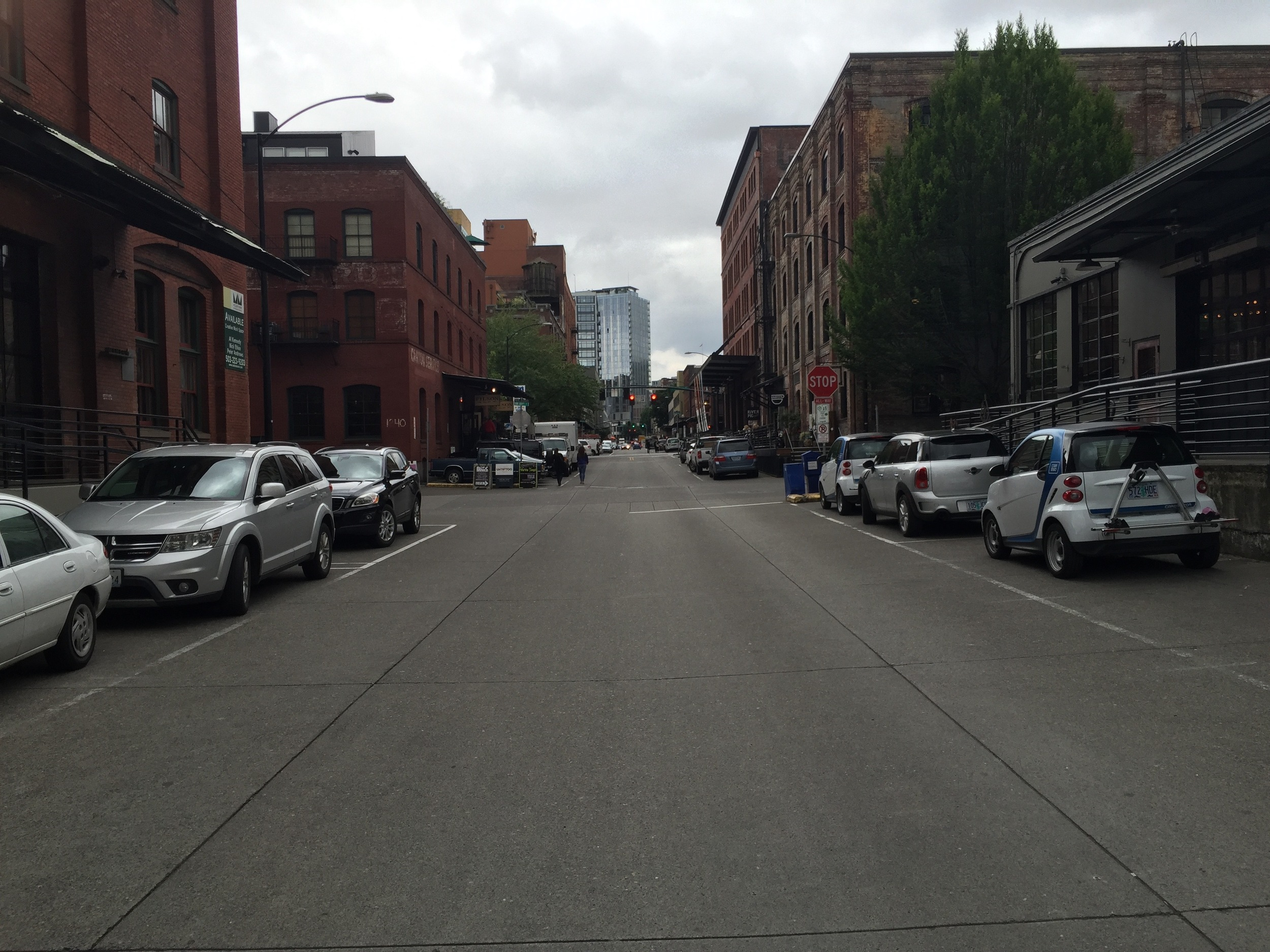 Retrofitting the old industrial area in the Pearl District of Portland.