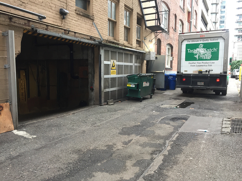 - Two way traffic in these alleys is not feasible - and alleys are frequently blocked