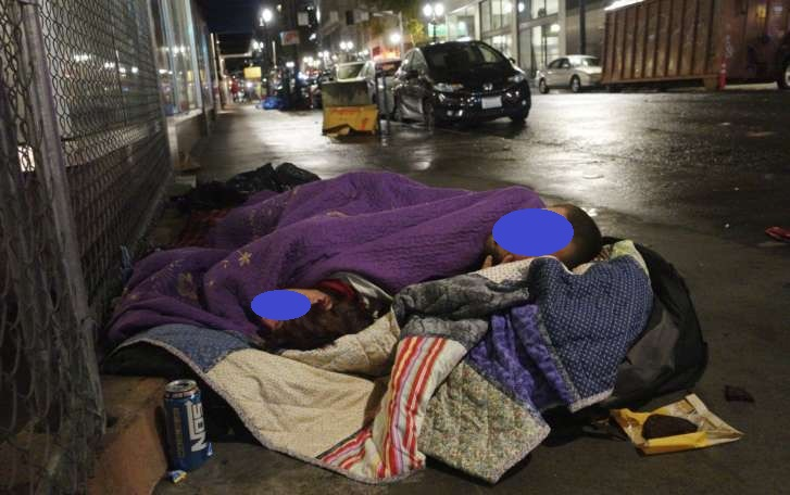 Downtown homeless with other issues as well.