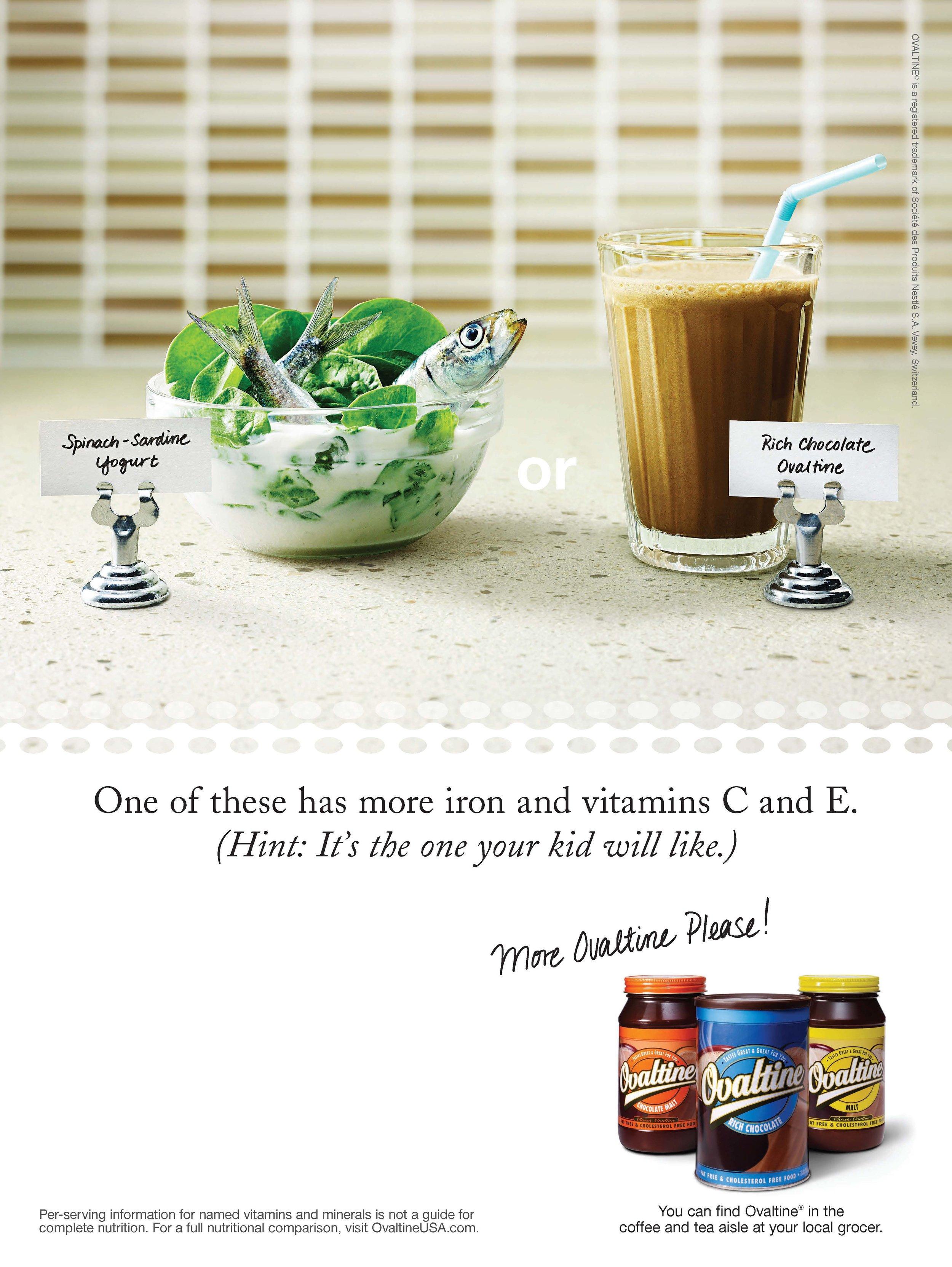 Nestlé/Ovaltine - More Vitamins: Print Ad